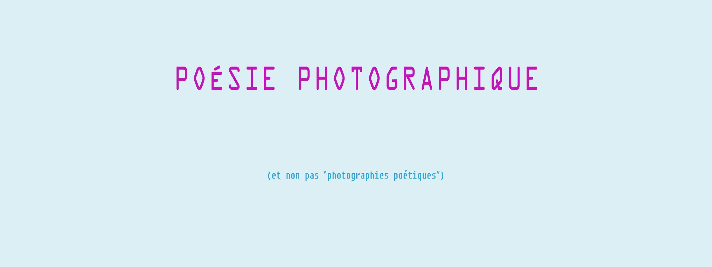 Poésie-photographique